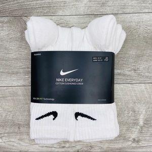 Nike Cotton Cushion Crew 6 White Socks